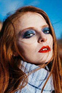 Beauty work with @kayleighfalcus and @thisischrisjo. www.josephinebirkett.co.uk  #beauty #editorial #glossyeye #blueeye #redlip #jbmua