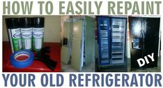 Dont have to wait for my fridge to break down now to get a black one!  How To Repaint A Refrigerator With Appliance Spray Paint