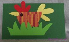 Kippetje in het gras School Art Projects, Class Projects, Projects To Try, Diy Paper, Paper Crafts, Diy Crafts, Cardboard Animals, Doodle Doo, Farm Crafts