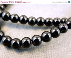 4th of July SALE Black Onyx Beads-- -- Black Onyx Round Bead-- 9mm Round Black Onyx Beads-- 1 STRAND (LC-28) on Etsy, $17.06