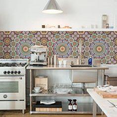 Kitchen Wall Wallpaper - Maroc – Lime Lace Backsplash Wallpaper, Backsplash Panels, Kitchen Backsplash, Wall Wallpaper, Kitchen Vinyl, Kitchen Wall Decals, Kitchen Brick, Kitchen Wallpaper Black, Brick Effect Wallpaper