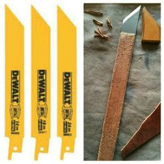 From a replacement blade for steel to a very sharp and easy to use knife for leatherwork