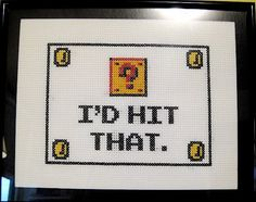 my nintendo cross stitch