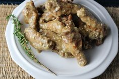Soy, Dijon and Blue Cheese Chicken Wings