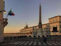 La prima sera dell'inverno romano | Piazza del Quirinale la sera del solstizio d'inverno
