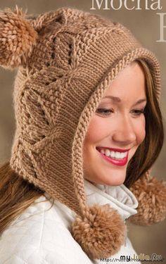 Модная шапочка ШЛЕМ спицами