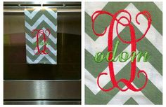 A personal favorite from my Etsy shop https://www.etsy.com/listing/225879848/chevron-monogrammed-dish-rag