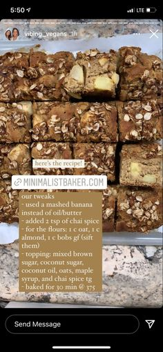 Coconut Sugar, Coconut Oil, Apple Coffee Cakes, Minimalist Baker, Baker Recipes, Vegan Baking, Brown Sugar, Almond, Spices