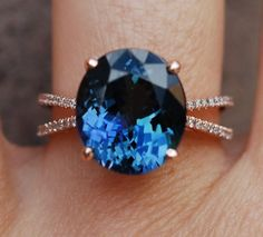 Tanzanite Ring. Rose Gold Engagement Ring. GIA by EidelPrecious