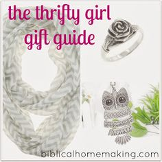 Biblical Homemaking: the thrifty girl gift guide {sweet October deals}