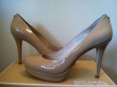 NIB Michael Kors Ionna Pump Nude Patent Leather Platform Heels Pumps Size: 7.5 M #MichaelKors #PumpsClassicsHeelsPumps