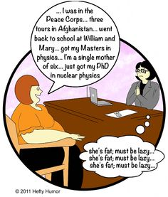 Obesity-related comic: Job interviews