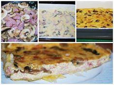 Porque me gusta lo fácil: Pastel salado de champiñón y jamón