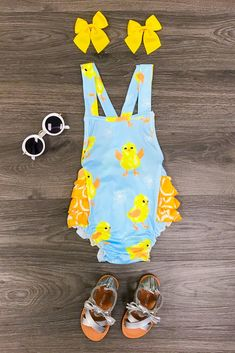 Yellow Chick Bubble Romper