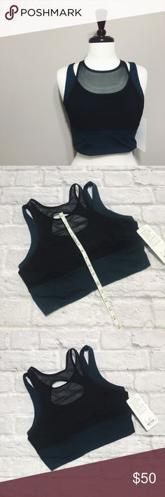 Lululemon Double Tap Bra II NWT Size 10 Lululemon Double Tap Bra II NWT Size 10  condition: NWT new with tags color: teal and black fit: fitted  other: beautiful layered look lululemon athletica Other