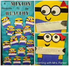 """So cute & adaptable to your program! I'm thinking """"A Minion Reasons to Be Drug Free!"""" For Red Ribbon celebrations...What can you come up with?"""