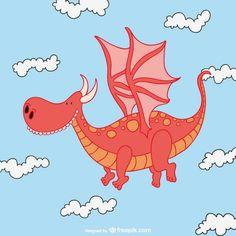 vetor de dragão