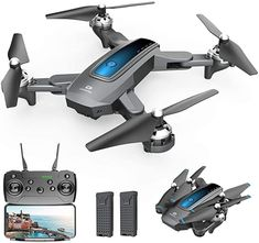 Amazon.com: DEERC D10 Foldable Drone with Camera for Adults 720P HD FPV Live Video, Tap Flying, Gesture Selfie, Altitude Hold, Headless Mode, 3D Flips, Quadcopter for Kids Beginners with 2 Batteries 24 mins: Toys & Games Mode 3d, Foldable Drone, Latest Camera, Drone Quadcopter, Drones, Drone For Sale, Remote Control Toys, Modular Design, How To Take Photos