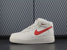 "2018 Nike Air Force 1 Mid '07 PRM QS ""Flax"" Wheat Shoes"