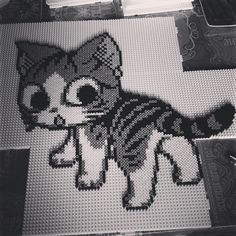 Chi Cat (Sweet Home) perler beads by podeprunix