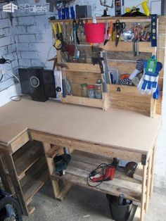 Pallet Workbench & Tool Rack