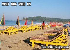 Tourist Attraction India: Baga Beach Goa    holidays tour india