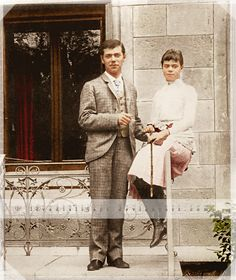 Before they'd got their 'Look' sorted out; here the young Nicholas II, and his younger sister (Grand Duchess Xenia) looking ever so ordinary and provincial...