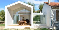 Modern extension of a family house