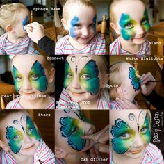 How to paint full face butterfly