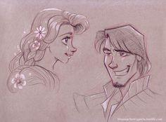 Rapunzel & Flynn Ryder | Brianna Cherry Garcia: Photo | tumblr