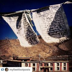 #Repost @myfleetfootposts with @repostapp Get featured by tagging your post with #talestreet  Tangyud Monastery sits watching over the slow dance of seasons in the autumn sun the fluttering prayer flags keeping up with the gentle beat of a gong coming from one of the prayer rooms. Without any frivolous distractions such places so easily make one reflect of our place in the larger scheme of things. #komic #spiti #himalayas #himachalpradesh #tangyudmonastery #talestreet…