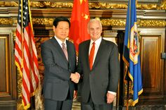 China Trade Mission- Governor Dayton with Shaanxi Governor Zhao Zhengyong