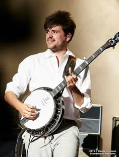 Win and his banjo :)