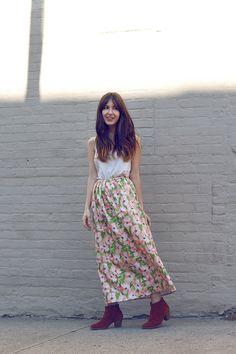 Floral Skirt. $88.00, via Etsy.