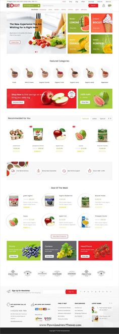eDigit is clean and modern design 4in1 responsive WooCommerce #WordPress #template for stunning #organic #food store #eCommerce website to live preview & download click on image or Visit #websitedesign
