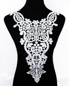 1pc white Embroidery Venise big flower lace neckline fabric, DIY collar lace fabrics for patchwork sewing scrapbooking stamp-in Lace from Home & Garden on Aliexpress.com | Alibaba Group