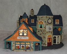 Dept 56 Seasons Bay Bay Street Shops First Edition Lemax Christmas Village, Christmas Villages, Glitter Houses, Department 56, Dollhouse Miniatures, Christmas Decorations, Shops, Seasons, Street
