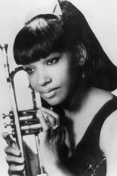 Clora Bryant remains a sadly under-recognized musical pioneer. The lone female trumpeter to collaborate with Charlie Parker and Dizzy Gillespie, she played a critical role in carving a place for women instrumentalists in the male-dominated world of jazz, Jazz Artists, Jazz Musicians, Blues Rock, Women In History, Black History, Trumpet Players, Women In Music, Smooth Jazz, Miles Davis