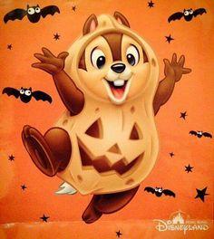 "Disney's Halloween ""Chip! Disney Halloween, Halloween Cartoons, Halloween Drawings, Halloween Pictures, Halloween Art, Arte Disney, Disney Love, Disney Magic, Disney Mickey"