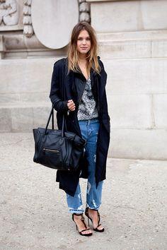 Tendencias moda en la calle street style verano 2013 boyfriend jeans pantalones mezclilla denim k