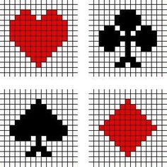 Playing cards games cut in plastic canvas Plastic Canvas Coasters, Plastic Canvas Tissue Boxes, Plastic Canvas Crafts, Plastic Canvas Patterns, Crochet Stitches Patterns, Perler Patterns, Beading Patterns, Cross Stitch Patterns, Card Patterns