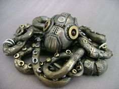Mechanical Octopus No2 by =monsterkookies on deviantARTSteampunk octopus