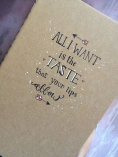 Ed Sheeran 'Give Me Love' Moleskine Notebook by cupofjuice on Etsy, $14.00