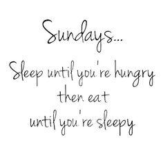 Lazy Sundays!!!!