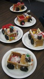 Polar Express edible train art - perfect for all of the left-overs we will have from decorating the gingerbread houses!
