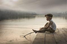 The Imaginarium © Sveta Butko The Imaginarium™ Unlimited… Cute Kids Photography, Outdoor Photography, Creative Photography, Portrait Photography, Boy Pictures, Boy Photos, Family Photos, Boy Fishing, Pose Reference Photo