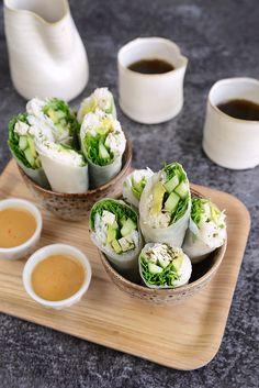 Green Spring Rolls (Tofu Basilic)