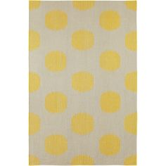 Capel Rugs // Genevieve Gorder NY Dot Yellow Area Rug