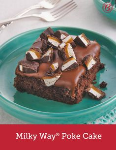 Looking for a way to use up leftover Halloween candy? Or simply want to delight a chocolate-lover in your life? Made with Betty's SuperMoist™ chocolate fudge cake mix, sour cream, rich caramel and a decadent, melted Milky Way icing, this incredible cake will having everyone begging for seconds.