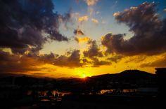#clouds #landscape #mountains #silhouette #sky #sun #sunrise #sunset
